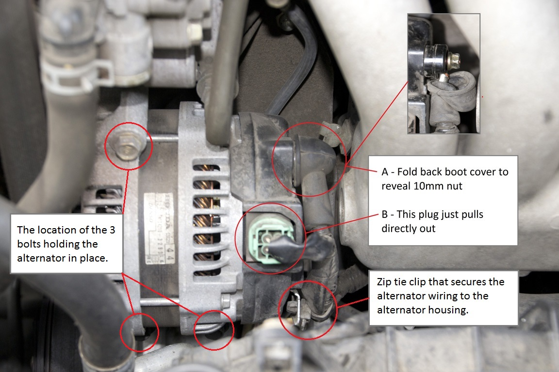 Diy alternator replacement acura tsx forum