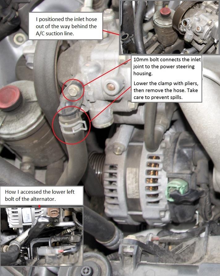 diy alternator replacement acura tsx forum