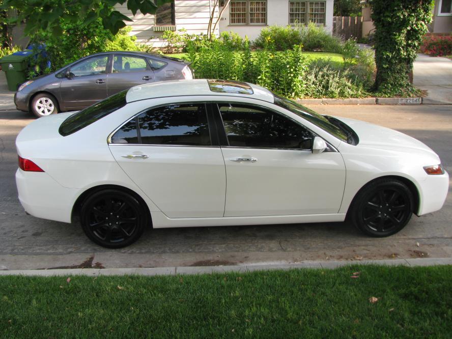 Black Powdercoated Stock Rims Acura TSX Forum - Black acura rims
